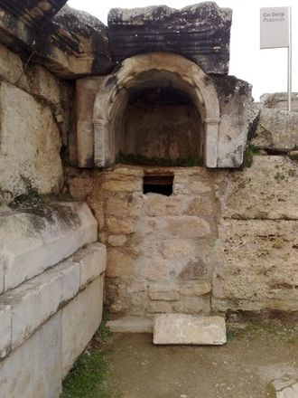 Ploutonion at Hierapolis - The ruins of the Ploutonion at Hierapolis
