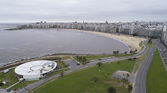 Pocitos, Montevideo, neighborhood and beach