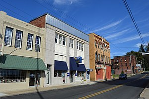 Point Marion, Pennsylvania - Penn Street in downtown Point Marion
