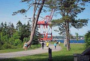 Halifax, Nova Scotia - Point Pleasant Park, a popular forested seaside park on the Halifax peninsula
