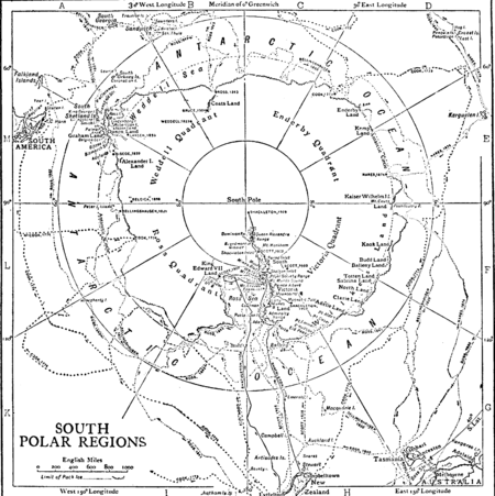 1911 South Polar Regions exploration map Polar Regions exploration 1911.png