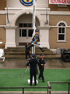 Police Academy Stunt Show - Image: Police Academy Stunt Show flag pole