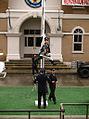 Police Academy Stunt Show - flag pole.jpg