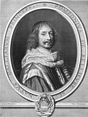 Pompone de Bellièvre - Bellièvre, engraved by Robert Nanteuil