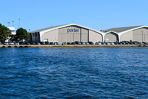 Porter Airlines - Porter building at Billy Bishop Airport