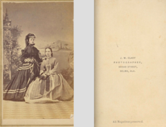 Portrait of 2 women by J W Clary of Selma Alabama.png