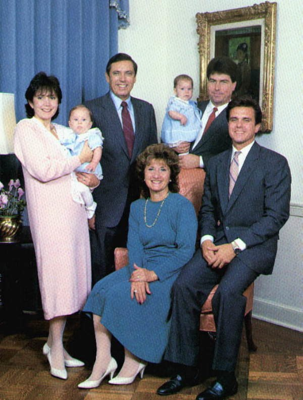 Portrait of Florida Governor Bob Martinez and his family on inauguration day