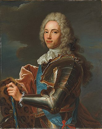 François-Marie, 1st duc de Broglie - Image: Portrait of François Marie de Broglie, Duke of Broglie, Marshal of France (member of the circle of Hyacinthe Rigaud)