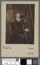 Portrait of John Roberts, harpist, of Newtown (4670503).jpg