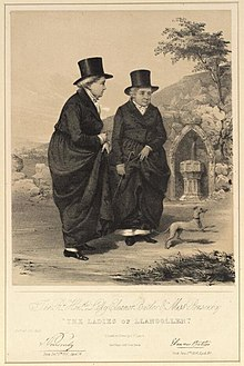 Portrait of The Rt. Honble. Lady Eleanor Butler & Miss Ponsonby 'The Ladies of Llangollen' (4671300).jpg