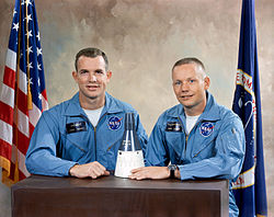 v.l. David Scott und Neil Armstrong
