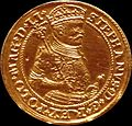 Portugal coin of Stephen Báthory , Riga 1586.JPG