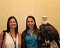 Posing for picture with Bald Eagle. (10595431414).jpg
