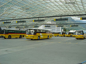 Chur railway station - Bus terminal, on the upper level