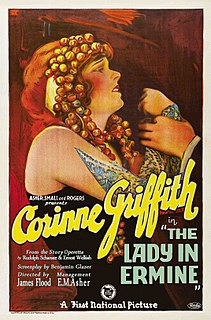 <i>The Lady in Ermine</i> 1927 American silent film directed by James Flood