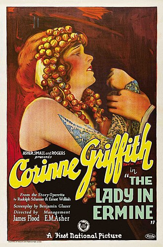 The Lady in Ermine - 1927 theatrical poster