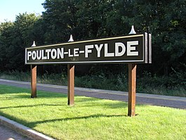 Poulton-le-Fylde Railway Station sign.JPG