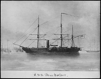 USS Powhatan (1850) - Image: Powhatan, port side NARA 513000