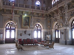 Cutch State -  Durbar Hall at Prag Mahal, Bhuj, built by Pragmalji II