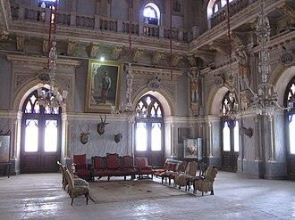 Cutch State -  Durbar Hall at Prag Mahal, Bhuj, built by Pragmalji II