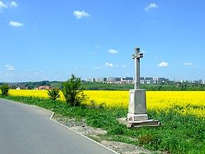 Road from Barrandov to Slivenec in southwestern edge of Prague