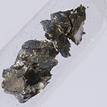 Lumps of praseodymium
