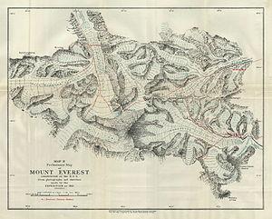 Lingtren - 1921 expedition map