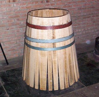 "Cooper (profession) - Assembly of a barrel, called ""Mise en Rose"" in French"