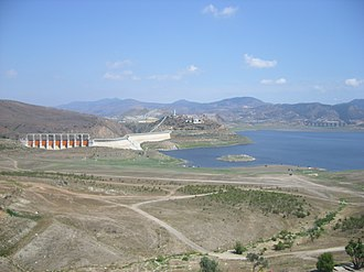 Tijuana River - Dam on the Tijuana River in Mexico.