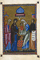Presentation of Christ in the Temple - Psalter of Queen Melisende (1131-1143), f.3 - BL Egerton MS 1139.jpg