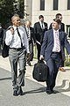 President Barack Obama departs Walter Reed National Military Medical Center with Dr. Ronny Jackson, in Bethesda, MD.jpg