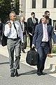 President Barack Obama departs Walter Reed National Military Medical Center with Dr. Ronny Jackson, in Bethesda, MD.jpg