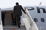 President Rodrigo Duterte boards the Philippine Airlines chartered flight PR001 at Air Force Station in New Delhi.jpg