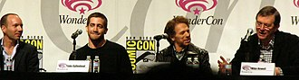Prince of Persia: The Sands of Time (film) - Mechner, Gyllenhaal, Bruckheimer, and Newell at a panel promoting the film at WonderCon 2010.