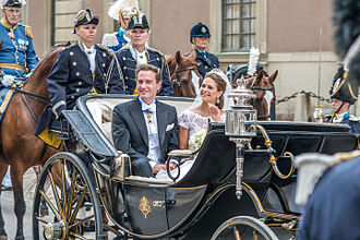 Wedding of Princess Madeleine and Christopher O'Neill - The procession after the wedding