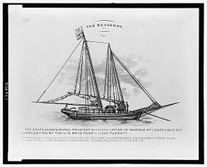 Confederate privateer - The Confederate States privateer Savannah