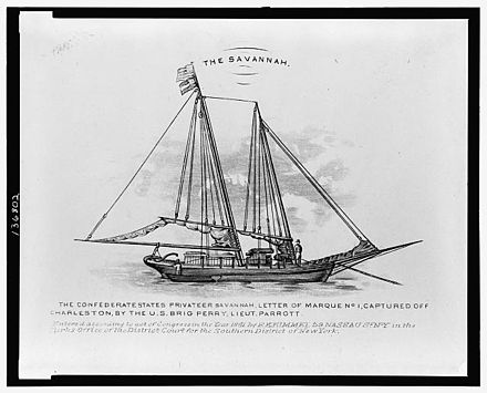 CSS Savannah, a Confederate privateer. Privateer Savannah.jpg
