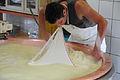 Production of cheese in Hopfreben 07.JPG