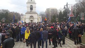 2015–16 protests in Moldova - Protest of DA Platform in Chișinău, on 5 April