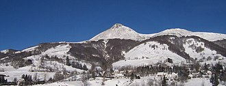Cantal - Puy Griou in the winter season