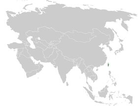 Pycnonotus taivanus distribution map.png