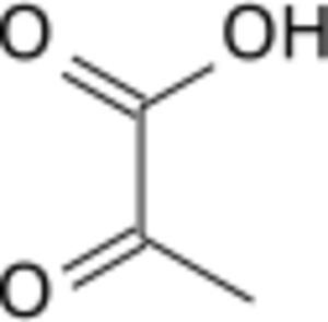 Phosphoenolpyruvic acid - Image: Pyruvate wpmp