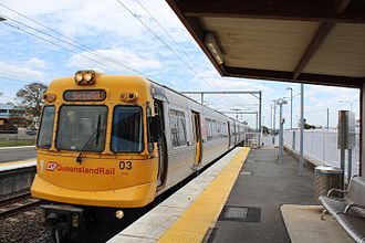 Queensland Rail - EMU03 at Sunshine in October 2016