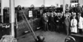 Queensland State Archives 3829 Group at Opening of New Wool Clip Machines Brisbane Technical College March 1931.png