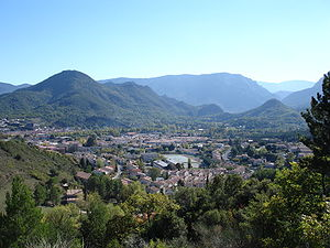 Aude - Mountain landscape in the Razès at Quillan