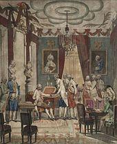 Abschied Josephs II. von seinen Vertrauten, 1790 (Quirin Mark). (Quelle: Wikimedia)