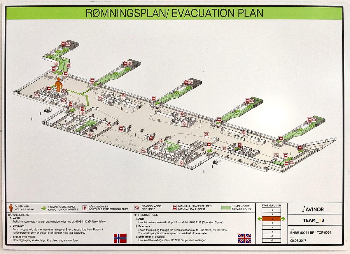 File Rømningsplan Evacuation Plan For Bergen Airport Flesland Norway Etasje Floor 3 Innenlands Domestic Flights Jpg Wikimedia Commons