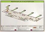 Rømningsplan-Evacuation plan for Bergen Airport, Flesland, Norway etasje-floor 3 innenlands-domestic flights.jpg