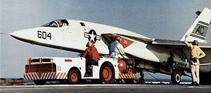 RA-5C RVAH-9 on cat of USS Saratoga (CVA-60) 1970.jpg