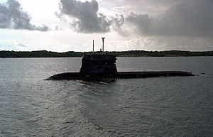 Challenger-class submarine - RSS Challenger undergoing sea trials